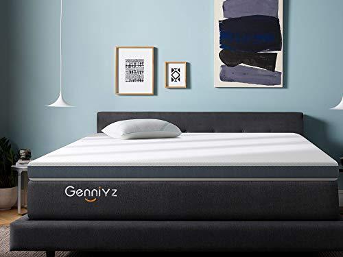 Genniyz 4 Inch Mattress Topper Gel Memory Foam Mattress Pad King Size Bed Topper