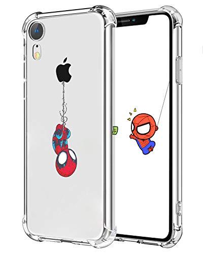 """Darnew Spider Funda para iPhone XR, Dibujos Animados Lindo Moda Suave de TPU Diseño de Gracioso Divertido Frio para Niños y Niñas Mujer, Casos para iPhone XR 6.1"""""""