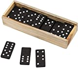 Wooden Dominoes Miniature Classic Board Games - Blocks, Educational Toys, Game Tiles, Leisure Time
