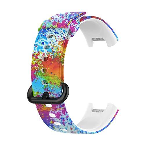 Osuner Mesa de Repuesto de Reloj Inteligente Compatible con Xiaomi Mi Watch Lite/Redmi Watch Lite con Pulsera de Silicona Impresa Código de Tinta Colorida