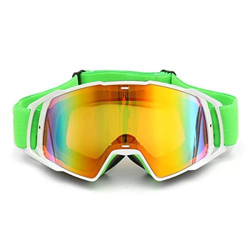 RongDuosi Motorfiets Racing Skibril UV-bescherming Anti-mist Green Frame Motorcycle Accessoires Motorbril