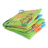 LJSLYJ Baby Spielzeug Soft Bilderbuch Stoffbuch Badebuch Kleinkinder Pädagogisches Spielzeug Geschenk(Die Tierwelt)