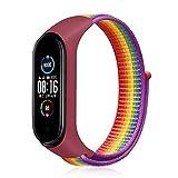 Bandas de nylon estiradas compatibles con MI BAND 6 5 4 3, Pulsera de reemplazo de reloj deportivo, correa de hombres trenzados ajustables (Color : 20, Size : For Mi Band 4)
