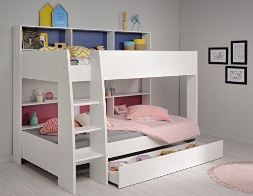 Parisot Etagenbett 90 x 200 cm mit Bettschubkasten Weiss