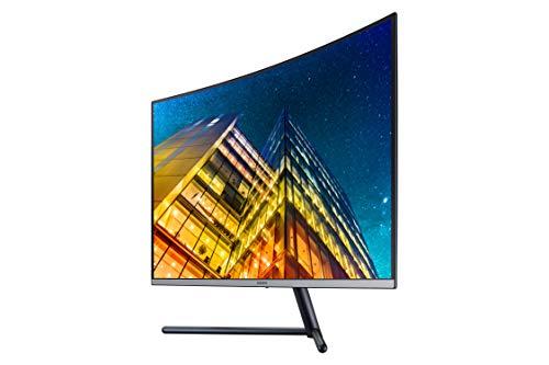 Samsung 32 Inch UHD Sleek Curved Monitor with Three Side Bezel Less & 1 Billion Colors - LU32R590CWWXXL