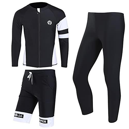 Xiaojie Traje de buceo con mangas divididas para mujer, pantalones para hombre y mujer, ropa de natación, protector solar, esnórquel, chaqueta de agua (color: 4, tamaño: XXXL)