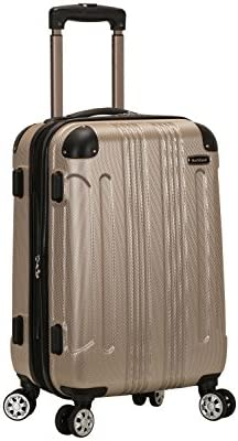 Rockland London Hardside Spinner Wheel Luggage Champagne Carry On 20 Inch product image