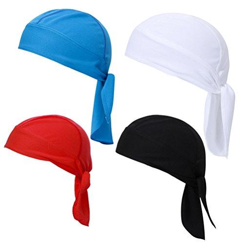 Boboder Sweat Wicking Beanie Cap à séchage Rapide Bandana UV Protection Respirant Skull Cap Tête Wrap Cyclisme Vélo Pirate Chapeau Unisexe