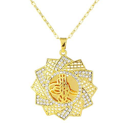 DSHT Vento A Forma di Vento A Forma di Fiore Intarsiato Perla Diamante Osman Bandiera Ciondolo Catena Ossea Catena Uomo Catena Femminile
