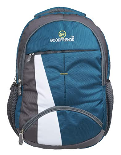 GOOD FRIENDS 30 Liters 33 cm Laptop Backpack (GF_Sky Blue)