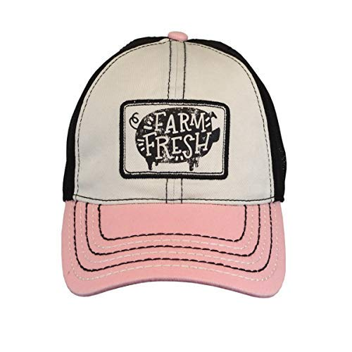 John Deere Womens Farm Fresh Pig Cap-Dusty Rose-Os