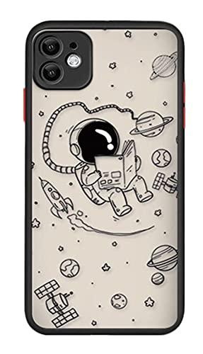 Svnaokr Carcasa de gel de sílice para iPhone, diseño de astronauta de protección militar fina, silicona flexible, resistente a los arañazos (para iPhone XSMAX, Style 1)