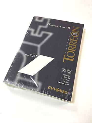 Paquete A4 (100 Hojas) Guarro Torreón 10% Verjurado 90g Blanco