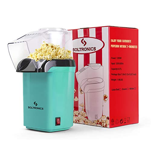 SOLTRONICS Hot Air Popcorn Popper for Home