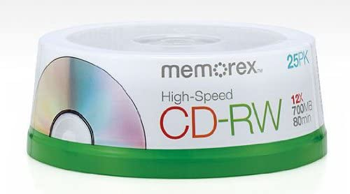 Memorex 80 Minute CD-RW 4x-12x Animer and price New Orleans Mall revision Spindle Pack Speed 25 High