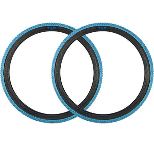 SE Bikes Cub 20 x 2.0 BMX OEM Replacement All Terrain Dirt Street Wire Bead Two Bike Tire Pair (Light Blue)
