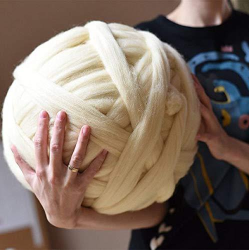 DIRUNEN Merino Wool Yarn Big Chunky Yarn Super Wool Roving Extreme Arm Knitting Giant Chunky Knit...