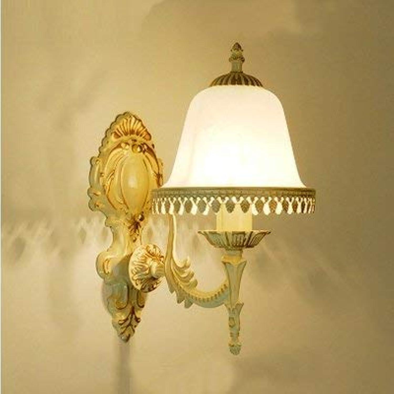 Single Head Schlafzimmer Nacht Gang Wohnzimmer Eisen Wandleuchte Doppelkopf Europischen Moderne Einfache Kreative LED Wandleuchte Beacon Tube Lampe Home Beleuchtung Fixture (Farbe  Bronze-Single