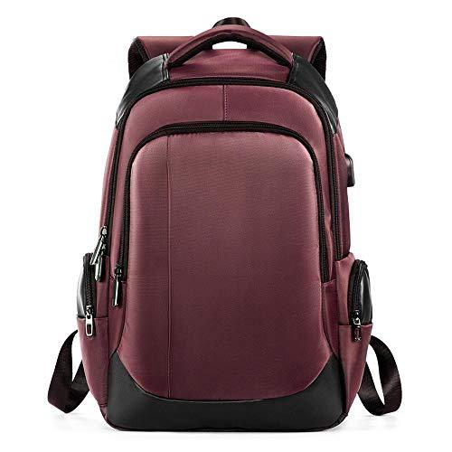 XZHFC Sac à Dos Sac à Dos Wearable Hommes USB Rechargeable Outdoor Sac à Dos Casual Tissu Oxford Sac D'école Red-30 * 16 * 42.5cm