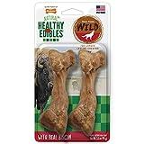 Nylabone Healthy Edibles WILD Natural Long Lasting Bison Flavor Dog Chew Treats 2 Count Medium - Up...
