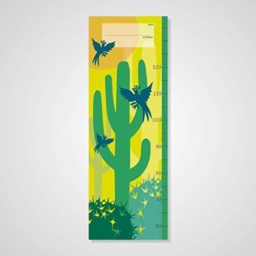 Messlatte Katus & Vogel, Jungs, Poster, Druck, Kinderzimmer, Geschenk, Deko, Tiere, Kaktus, Kinder, Junge, Boy, Cowboys, Wild West, messen