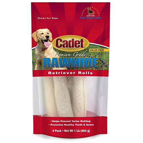 Cadet Gourmet Premium Grade Rawhide Retriever Rolls Dog Chews, 1 lb