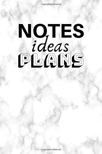 Notes Ideas Plans: Bullet Journal For Creative Writing (6x9 inch | dotted grid paper | Soft Cover | 100 Pages)