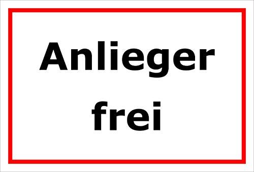 Melis Folienwerkstatt Schild Anlieger frei - 45x30cm - Bohrlöcher - 3mm Aluverbund – 20 VAR S00245-232-B