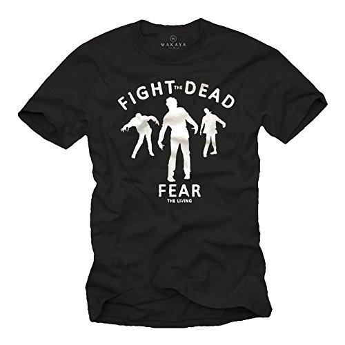 Fight The Dead - Camiseta Zombie Hombre - Walking Dead - S