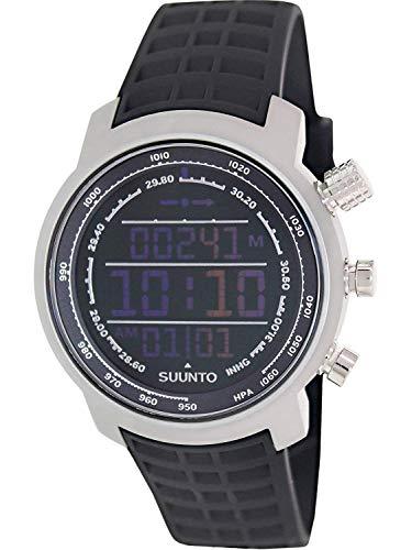 Suunto Elementum Terra Digital Display Quartz Watch, Black Silicone Band, Round 51.5mm Case