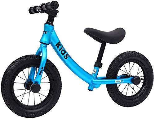 Bicicleta de Equilibrio 12 pulgadas Bike Balance Sin pedal del balck Formación de bicicletas for niños y los niños de Seguridad de peso ligero, su hijo con confianza puede Transición a bicicle