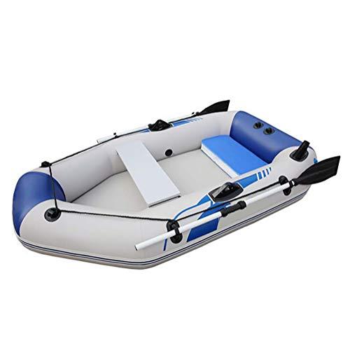 DMBHW 2M Espesar Barca Hinchable Rafting Al Aire Libre Pescar Soportar 280kg Bote Salvavidas Material de PVC con Remos Cuerda y Bomba de Aire