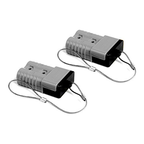 HYCLAT Gray 2-4 Gauge 175A Battery Quick Connect/Disconnect Wire Harness Plug Connector Recovery Winch Trailer (2 Pack)