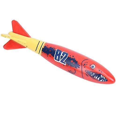 AMONIDA 5.12 * 1.38 * 0.98in Torpedo Rocket Toy, 4 Piezas Torpedo Rocket, Water Torpedo Rocket para niños Aprendizaje de natación Juguete de Verano Natación Juego de Buceo
