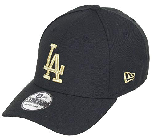 New Era Los Angeles Dodgers 39thirty Stretch Cap - MLB Essential - Black/Gold - L-XL (7 1/8-7 5/8)