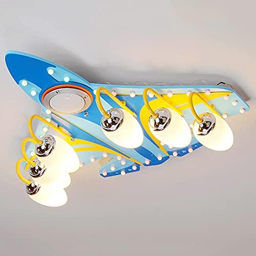 ALIPC Ventilador De Techo Silencioso con Luz Led,Luz De Ventilador De Techo con Control Remoto para NiñOs,Utilizado para La Sala De Estar del Dormitorio,Sixlightbulbs