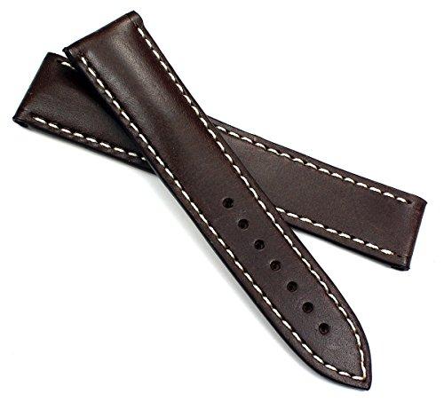 RIOS 1931 Juchten Leder Uhrenarmband Für Omega Faltschließe Handvernäht
