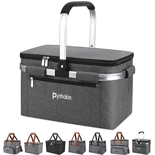 Pynhoklm Cesta de la compra Leakproof bolsa isotérmica, cesta de pícnic, cesta térmica grande, bolsa aislante, plegable, bolsa para el almuerzo, bolsa de pícnic 2021