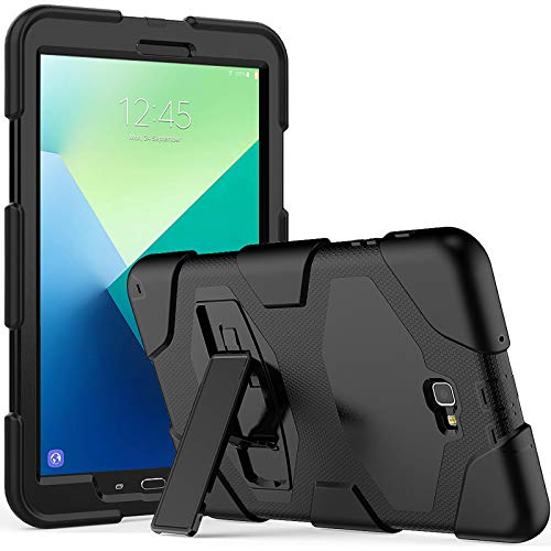 SXcase Samsung Galaxy Tab A/A6 10.1 Case with Stand,Heavy Duty Rugged Soft Silicone Hard Bumper Shockproof Protective Case for Galaxy Tab A6 10.1 inch 2016 (SM-T580/T585)[Black]