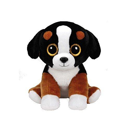 Carletto Ty Roscoe Black/White Dog TY 90245 Hund mit Glitzeraugen, Mehrfarbig