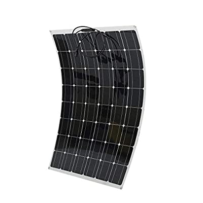 200W Monocrystalline Flexible Solar Panel, Waterproof Flexible Monocrystalline Lightweight Solar Power System for RV, Boats, Roofs, Cabin, Tent, Car, Trailer, Ultra Thin (200W)