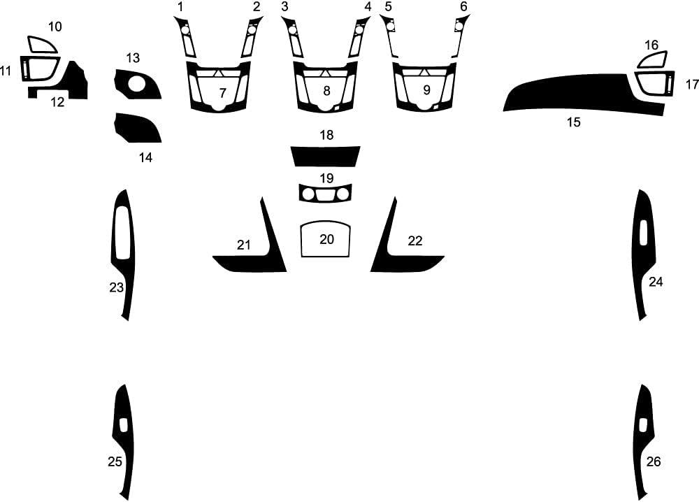 Rvinyl Rdash Dash Kit Decal Max 76% OFF Compatible Hyundai Elantra Trim Popular overseas with