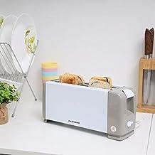 Olsenmark OMBT2270 4 Slice Bread Toaster/Auto Shut Off,White/Grey