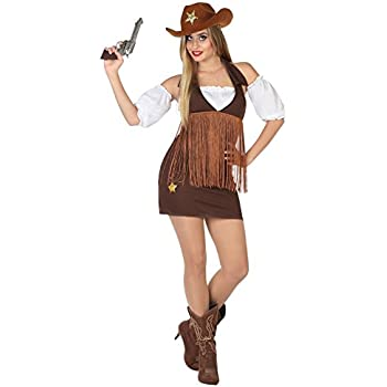 Atosa-26551 Cowgirl Disfraz Vaquera, Color marrón, XL (26551 ...