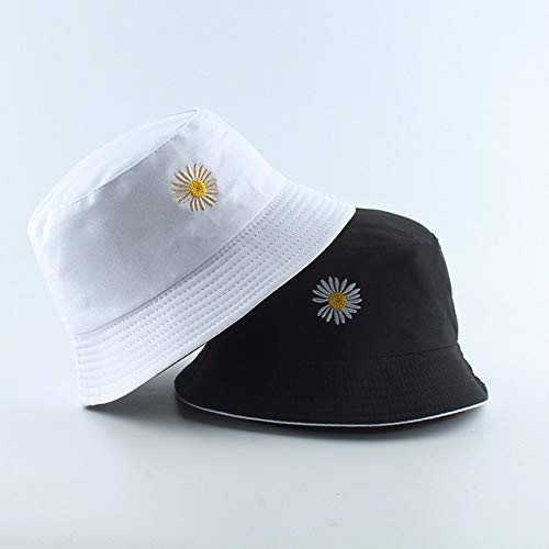 Nuevo Sombrero de Moda, Sombrero de Cubo Negro y Blanco, Gorras de Pescador Reversibles, Sombreros de Verano para Mujeres, Gorras-White Black