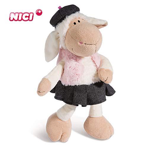 Nici Plüschtier Schaf Jolly Chic 45 cm – Schaf Kuscheltier für Mädchen, Jungen & Babys – Flauschiges Stofftier zum Kuscheln, Spielen und Schlafen – Schmusetier für Kuscheltierliebhaber – 44272