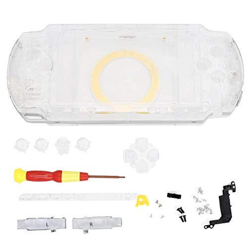 Vobor 5 Couleurs Console de Jeu Coque ABS matériau étui de Console de Jeu avec Tournevis pour P-S-P 1000(Transparent)
