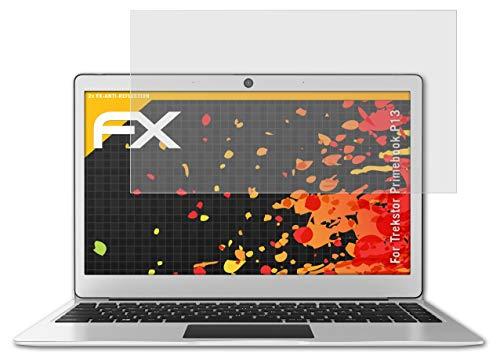 atFolix Panzerfolie kompatibel mit Trekstor Primebook P13 Schutzfolie, entspiegelnde & stoßdämpfende FX Folie (2X)