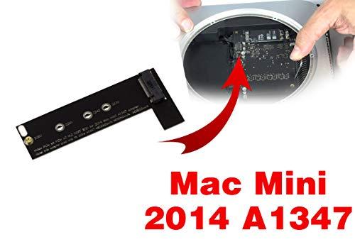 KALEA-INFORMATIQUE M.2 SSD Adapter (M2 NGFF) für MAC Mini 2014 A1347 SSD. Kompatibel A 1347 MEGEN2XX/A MEGEM2XX/A MEGEQ2XX/A