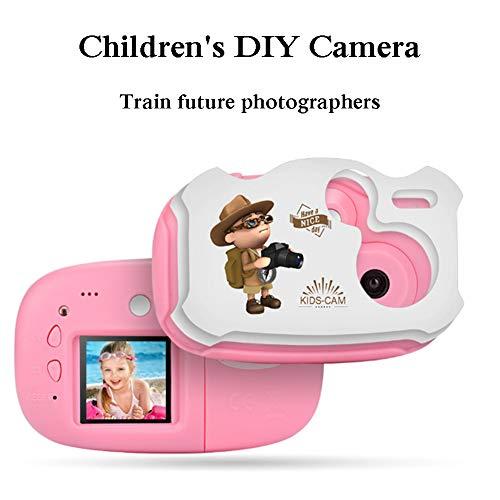 YP Digitalkamera Kindertauglich, Digitale Kamera Bildschirm 1.44 Zoll Kinder Fotoapparat Mit 32G Speicherkarte, Weihnachten Neujahr Geburtstag Festival Spielzeug Geschenk FüR Kinder Alter 3-12,Rosa
